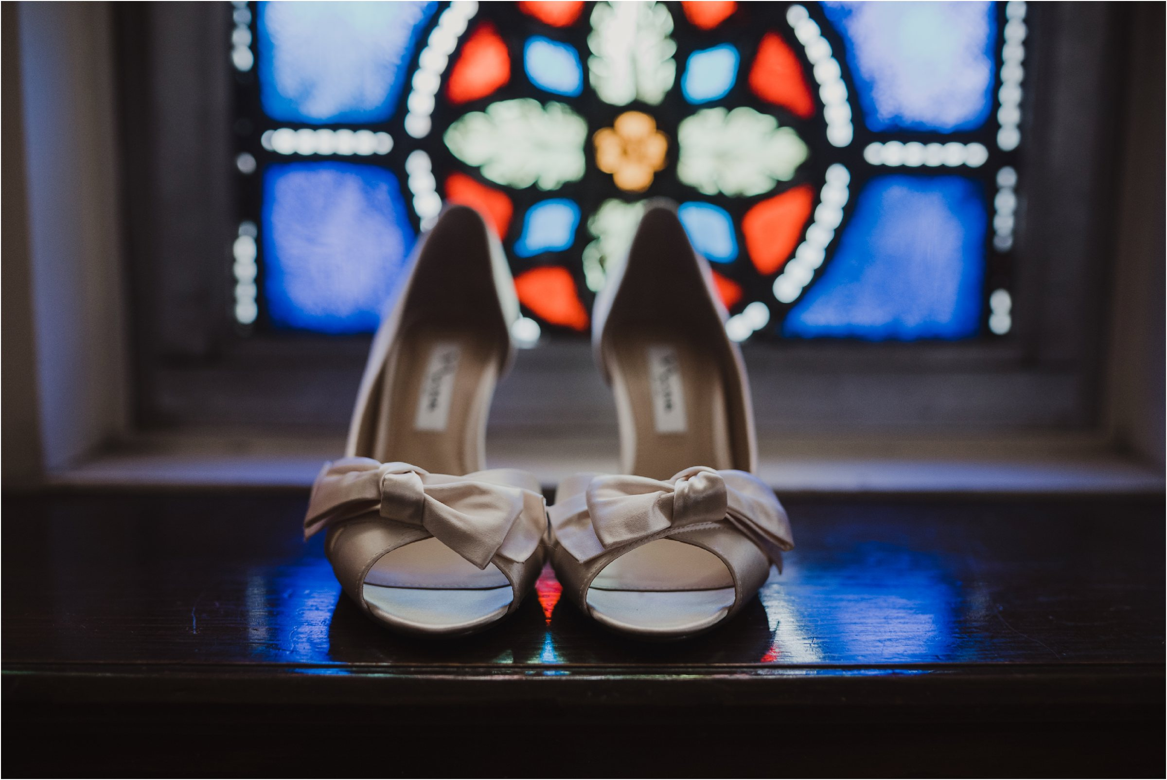 white wedding shoes with bows