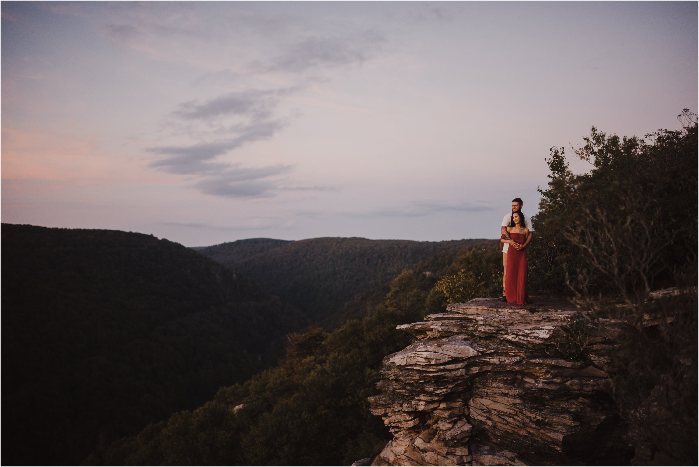 blackwater falls adventure engagement session with couple